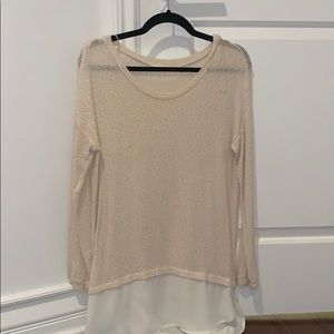 Lush Sweater with Chiffon bottom ... never worn